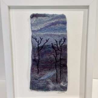 Winter Landscape Felt Textile Painting