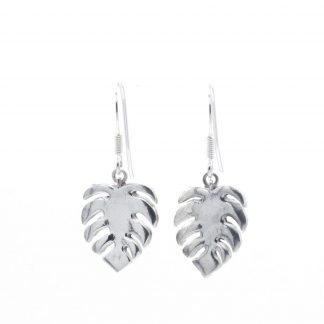 cheese plant / Monstera silver Earrings