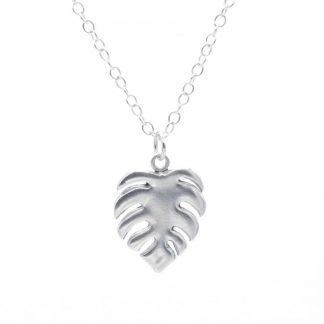 Fine Silver Cheese Plant / Monstera Pendant