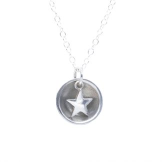 fine silver dome and star pendant