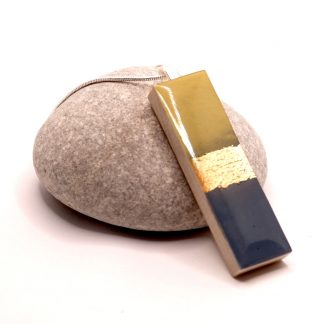 slate & ochre pendant necklace