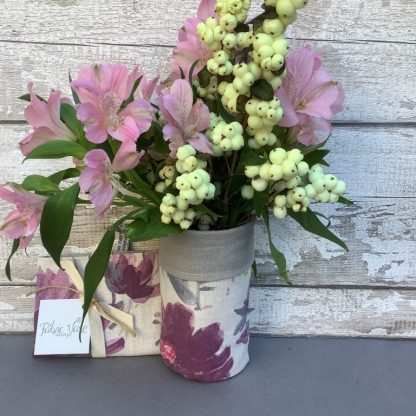 French-Floral- Fabric -Vase