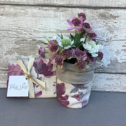 Floral -Fabric -Vase-cover