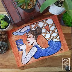 Work Contortionist Lady by Mel Langton Art
