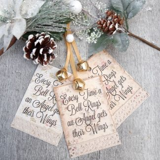 christmas gift Tags every time a bell rings