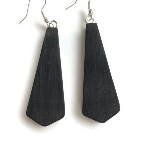 ebony wood drop earrings
