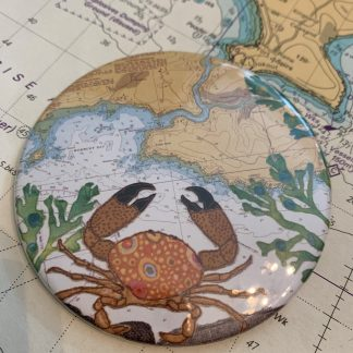 Crab at Wembury mirror by Hannah Wisdom Textiles