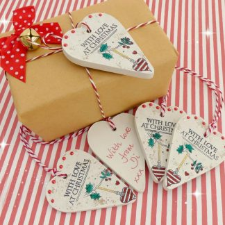wooden parcel tags christmas