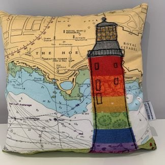 Pride at Plymouth cushion Hannah Wisdom Textiles