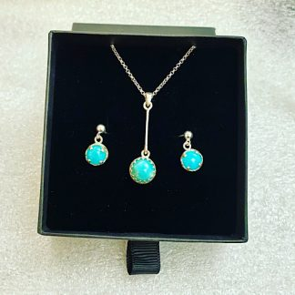 amazonite necklace and earrings set