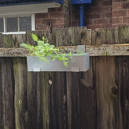 Window Box with Brackets for a fence
