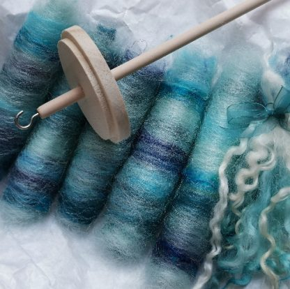 spinning kit and selection of wool