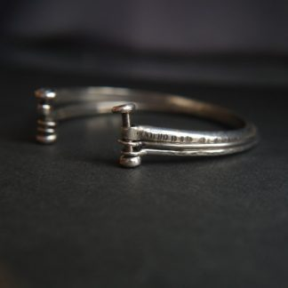 unique three in one silver bangle