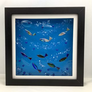 Fused glass Ocean box frame