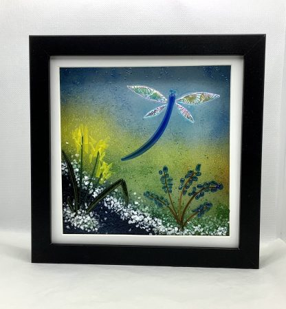 Fused Glass Dragonfly Box Frame
