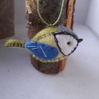 Handmade felt Great tit bird