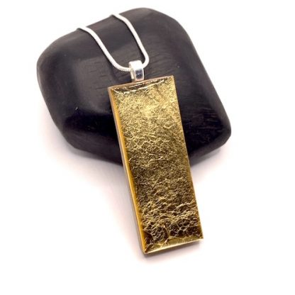 'gold' wood and resin necklace