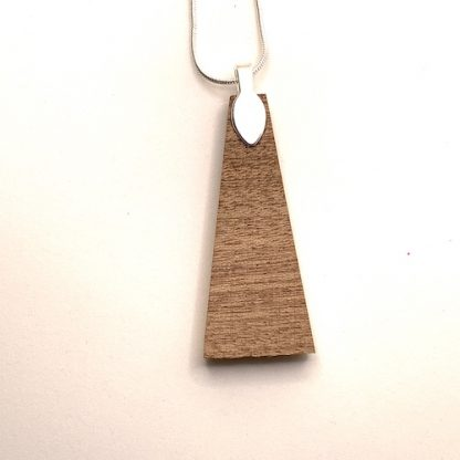 golden glow wood and resin necklace