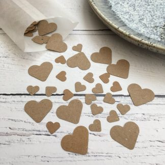 Crofts Crafts Brown Kraft Heart Table Confetti
