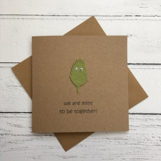 Crofts Crafts Valentines Card - we are mint to be together