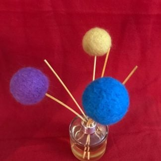 Fluffy colourful reed diffuser toppers