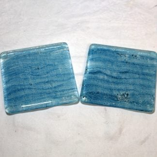 Inspired by the sea fused glass coasters