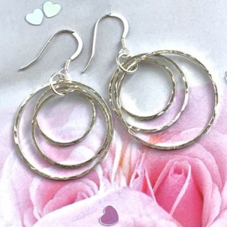 contemporary Sterling silver earrings