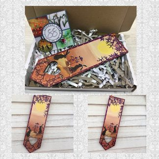 Hare & moon bookmark in sunset shades