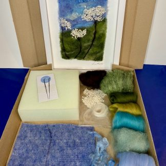 A needle felting craft kit of Cow Parsley by Louise Hancox Textile Artist