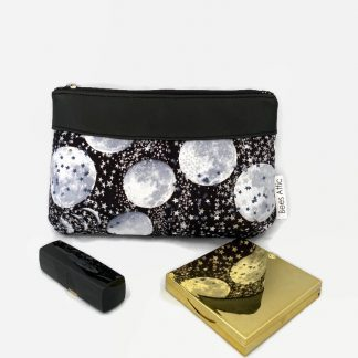 Moon phase cosmetics bag
