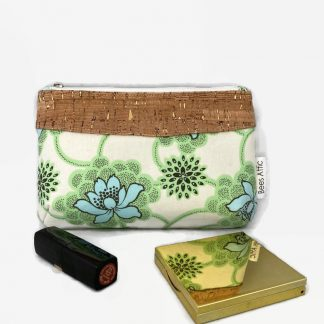 Cream floral make up bag