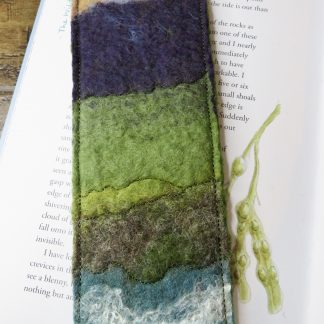 At the Cliff Edge Handmade Felt Bookmark