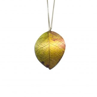 Beech leaf necklace by Photofinish Jewellery