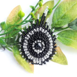Cherylsjewellery - black peacock feather brooch (7)