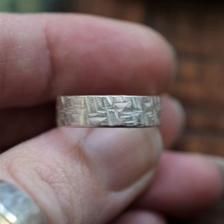silver textured ring by All That Glitters