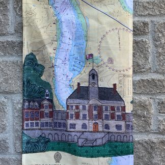 Dartmouth tea towel by Hannah Wisdom Textiles