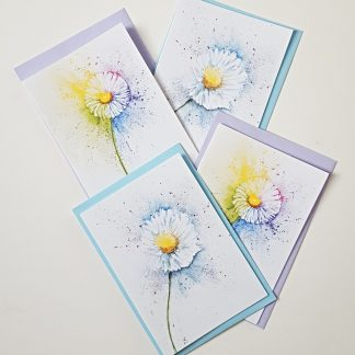 Delightful Daisies blue & lilac bf r