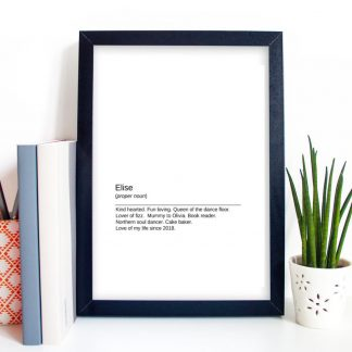 personalised print gift for her