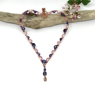 Pink and Purple Heart Decoration