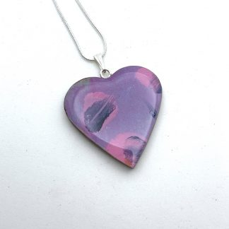 purple print necklace