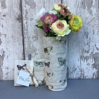 Butterfly -Print- Fabric -Vase