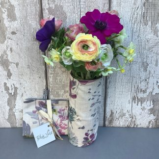 Floral Fabric Vase