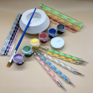 Dot mandala painting kit for tea light holder