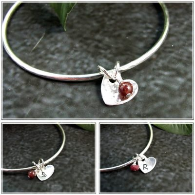 Personalised-Birthstone-and-heart-Bangle