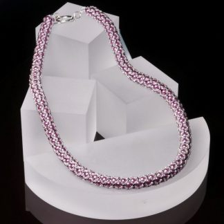 Pink and Silver Netted Necklace