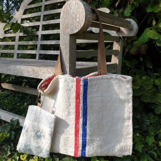 Vintage Hessian Tote bag and pouch