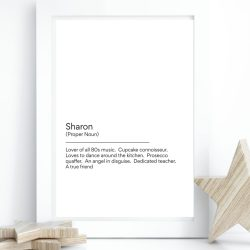 personalised print for her