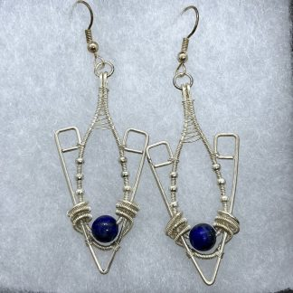 Deco with sodalite earrings