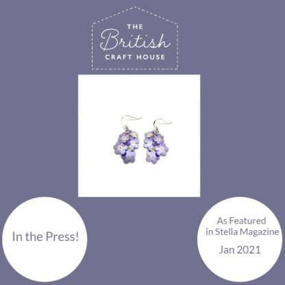 Stella magazine feature of Forget me Not earrings by Photofinish Jewellery