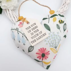 Bees Fabric Scented Heart